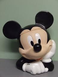 vintage disney u0027s mickey u0026 minnie mouse hard plastic cookie jars