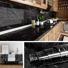 what to put on top of kitchen wall cabinets livelynine black marble wall paper for kitchen counter top covers peel and stick wallpaper bathroom granite contact paper for countertops desk table