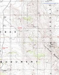 joshua tree california map topographic map of the lost mine trail joshua tree national