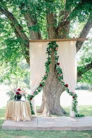 wedding backdrop tree 30 creative ideas to decorate your outdoor wedding ceremony
