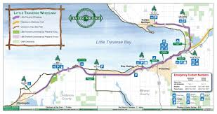 Map Of Northern Michigan by Little Traverse Wheelway Michigan Trail Maps