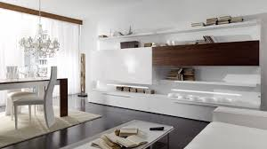 Wall Units With Storage Living Room Cozy Large Living Area With Glossy White Storage