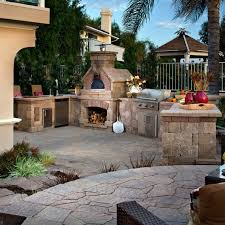 Belgard Brighton Fireplace by Outdoor Elements Pavers 4 Less