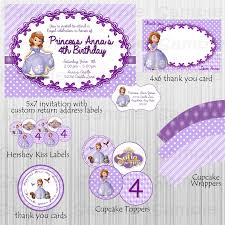Sofia Decorations Printable Sofia The First Birthday Party And 12 Similar Items