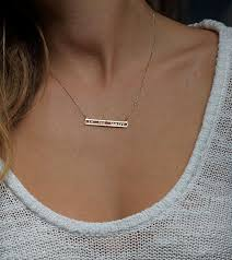Custom Bar Necklace The 25 Best Diamond Bar Necklace Ideas On Pinterest