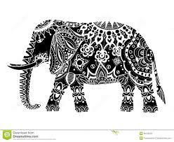 black indian elephant stock vector image 66103654