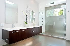 modern bathroom vanity cabinets with contemporary cantilevered