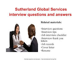 Service Desk Agent Interview Questions And Answers Sutherland Global Services Interview Questions And Answers