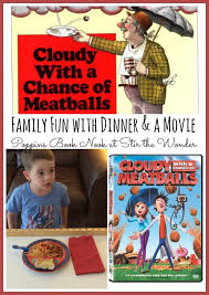 cloudy chance meatballs dinner movie