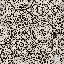 lace or spiderweb furniture craft stencil diy chic halloween