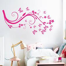 beautiful design home decoration vinyl butterfly flower wall