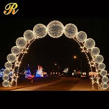 2015 new gold silver led light wedding arch for