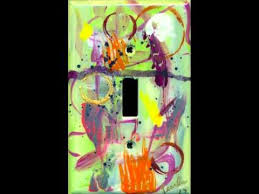 painted light switch covers hand painted light switch covers youtube