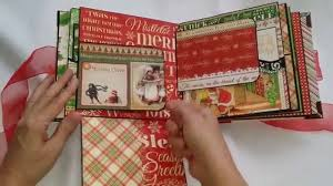 Diy Scrapbook Album Mini Album Navidad Diy Scrapbook Youtube