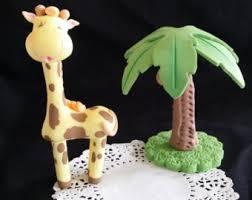 Giraffe Cake Topper Giraffe Baby Shower Baby Giraffe Birthday
