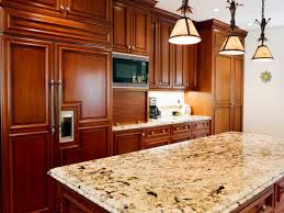 Hickory Wood Kitchen Cabinets Concrete Countertops High End Kitchen Cabinets Lighting Flooring