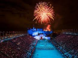 fireworks finale at the royal edinburgh military tattoo picture