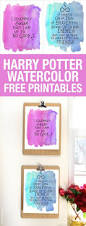 harry potter watercolor quote printables watercolor background