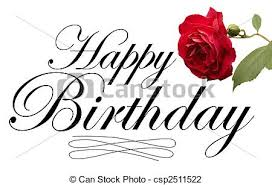 clip art of rose card happy birthday card with red rose and
