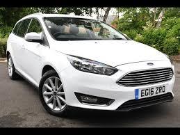 used ford focus tdci used ford focus 1 5 tdci 120 titanium 5dr estate frozen white 2016