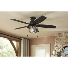 shop hunter allegheny 52 in new bronze outdoor flush mount ceiling