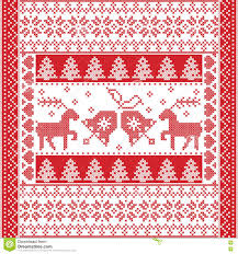 winter square pattern in cross stitch style with christmas bell