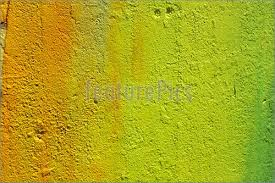 photo of wall painted in shades of yellow and green