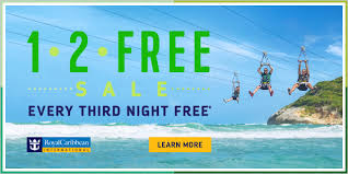 new royal caribbean sale is offering every third night free