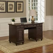 Overstock Home Office Desk Furniture Gracewood Hollow Oscar Pedestal Desk Free Shipping On