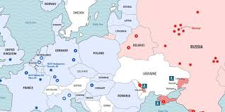 russia map border countries map of the russia nato confrontation business insider