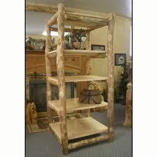 Aspen Bookcase Rustic Furniture Aspen Log Bookcase