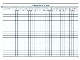 attendance list template templates and samples