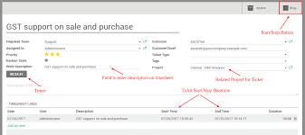 help desk ticket form helpdesk ticket timesheet with start stop odoo apps