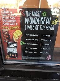taco bell hours on thanksgiving talkinggames regarding taco bell