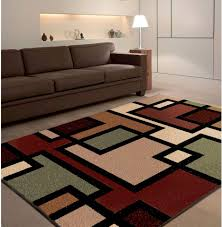 Brown Shag Area Rug by Living Room Modern Living Room Interior Design With Colorful