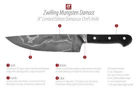 unique kitchen knives zwilling j a henckels mungsten damast limited edition damascus
