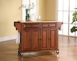 crosley alexandria kitchen island crosley furniture wood top kitchen cart in cherry