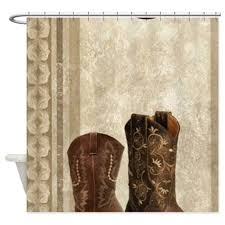 cowboy boots western country shower curtain by listing store 30702168