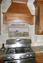 Tuscan Tile Murals Kitchen Backsplashes Tuscany Art Tiles - Tuscan kitchen backsplash ideas