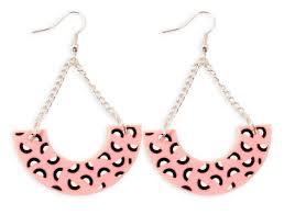 style of earrings pink half hoop earrings now or never jewelry