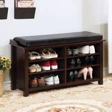 shoe store bench seat shoe storage bench you ll love wayfair