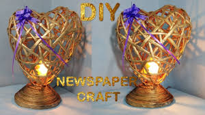 diwali home decorations how to make newspaper lamp best out of waste diwali home