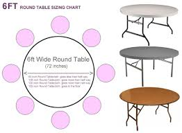 What Size Tablecloth For 6ft Rectangular Table by What Size Tablecloth For 6ft Round Table Tableclothsforless Com
