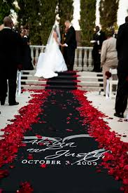 Wedding Aisle Runners Black And Red Wedding Aisle Runner U2013 Shared In A Roundup Post By