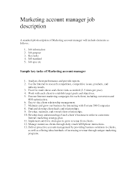 Resume Sample Key Account Manager by Account Manager Job Description For Resume Free Resume Example