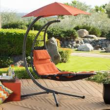Hanging Swing Chair Outdoor by C Black Metal Hanging Swing Chair With Orange Seat Completed By