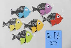 it u0027s written on the wall go fish birthday party game for camping