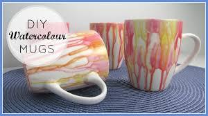Amazing Mugs by Diy Decor Gifts Watercolour Mugs Youtube