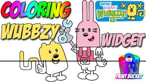 wow wow wubbzy widget coloring pages nickelodeon nick jr