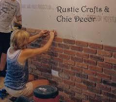 cottage bathroom ideas rustic crafts easy way to install a rustic brick veneer wall rustic crafts